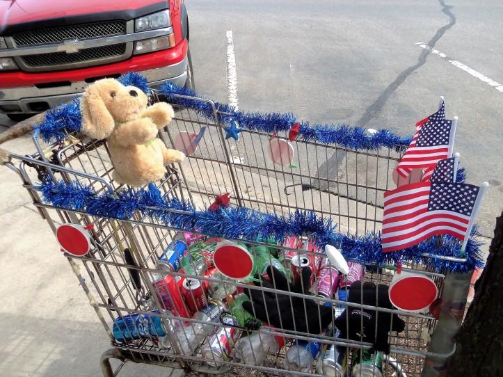 his cart