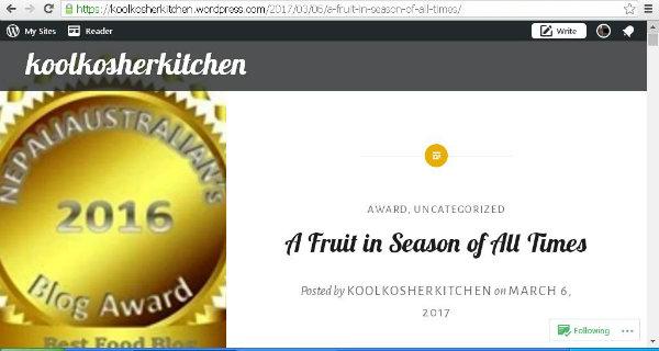 kool award post.JPG