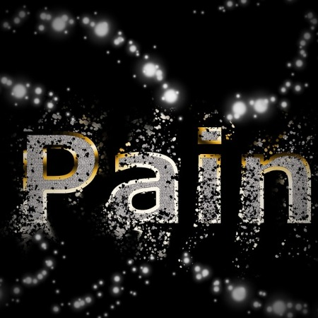 """The word """"Pain"""" is slowly disolving away"""