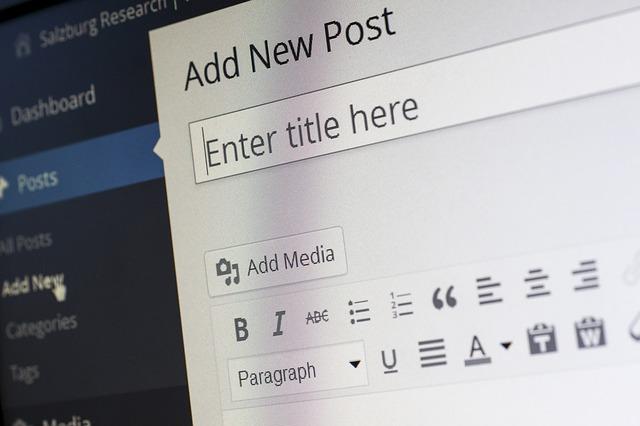 screenshot of an empty Title line, for a WordPress new post